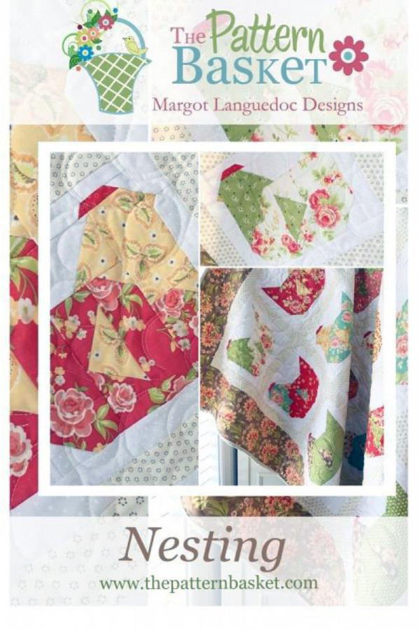 Nesting quilt sewing pattern from The Pattern Basket