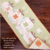 Hocus Pocus Table Runner ADD-ON quilt sewing pattern from The Pattern Basket 2