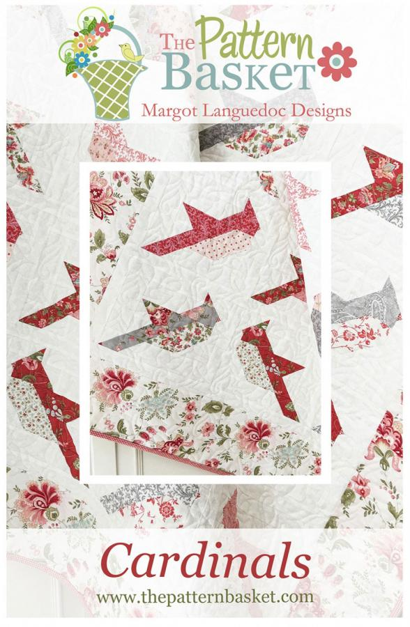 Cardinals quilt sewing pattern from The Pattern Basket