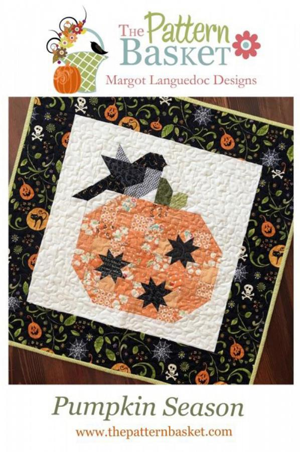 INVENTORY REDUCTION...Pumpkin Season quilt sewing pattern from The Pattern Basket