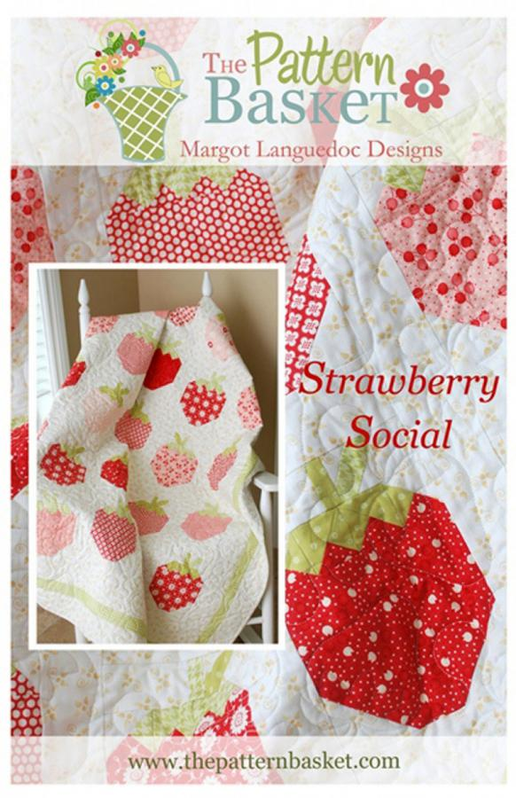 Strawberry Social quilt sewing pattern from The Pattern Basket