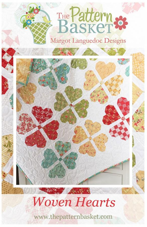 Woven Hearts quilt sewing pattern from The Pattern Basket