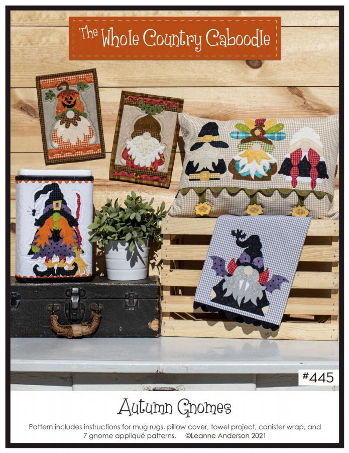 Autumn Gnomes sewing pattern from The Whole Country Caboodle
