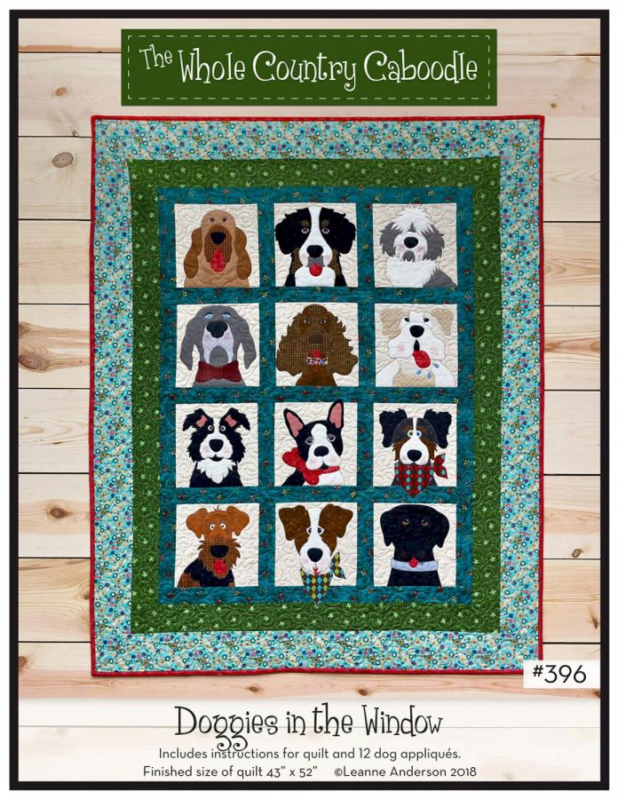 Doggies In The Windows sewing pattern from The Whole Country Caboodle