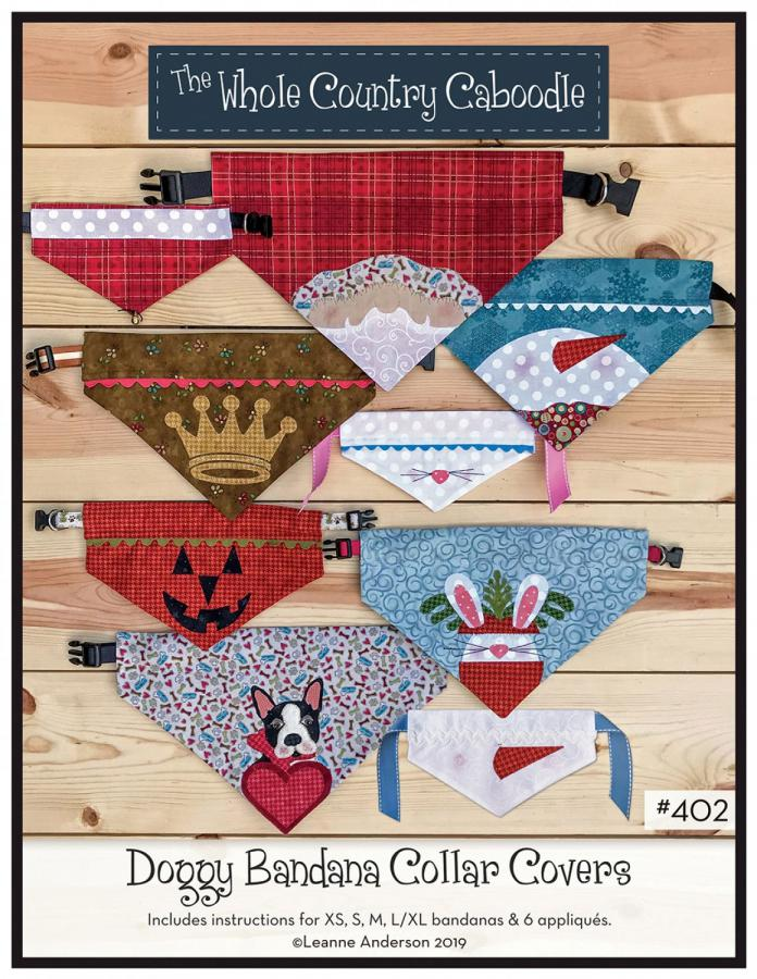 Doggy Bandana Collar Covers sewing pattern from The Whole Country Caboodle