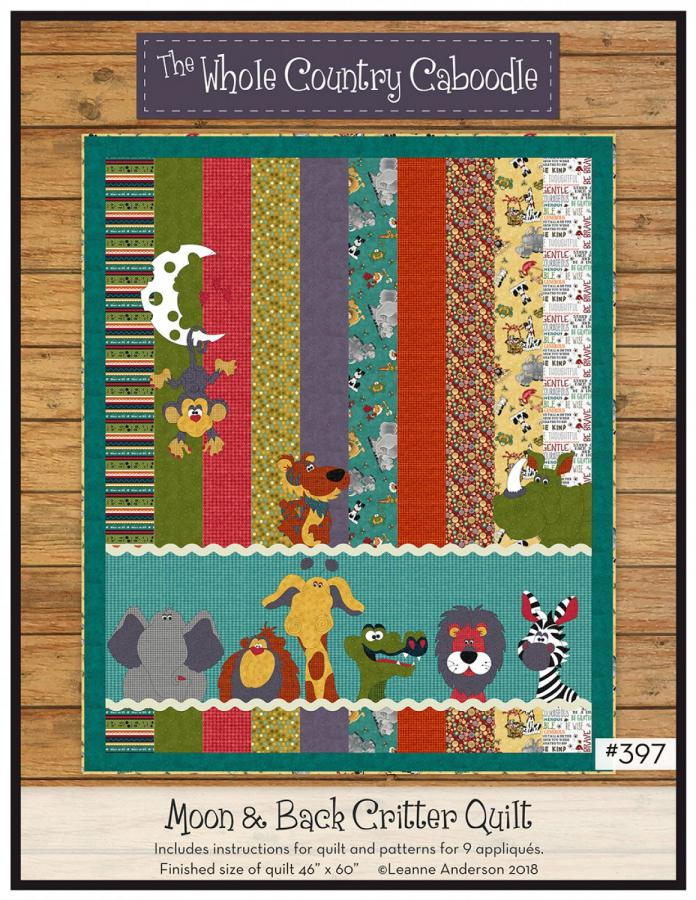 Moon and Back Critter Quilt sewing pattern from The Whole Country Caboodle