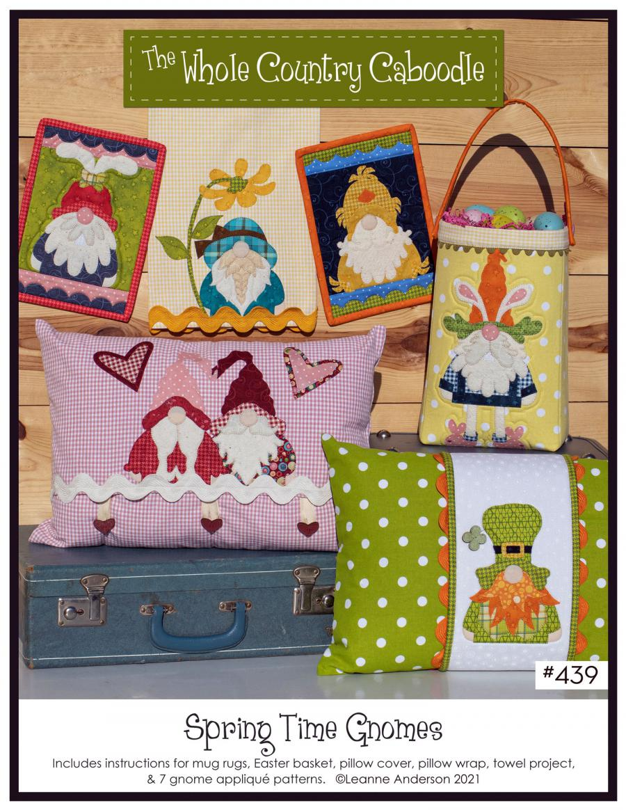 Spring Time Gnomes sewing pattern from The Whole Country Caboodle