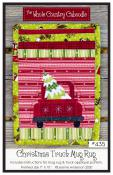 Christmas Truck Mug Rug sewing pattern from The Whole Country Caboodle
