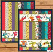 Dragon Friends Strip Quilt sewing pattern from The Whole Country Caboodle 2