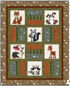 Flannel Woodland Critter Quilt sewing pattern from The Whole Country Caboodle 2