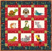 Small Critter Rescue quilt sewing pattern from The Whole Country Caboodle 2