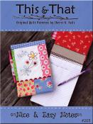 Nice & Easy Notes sewing pattern from This & That