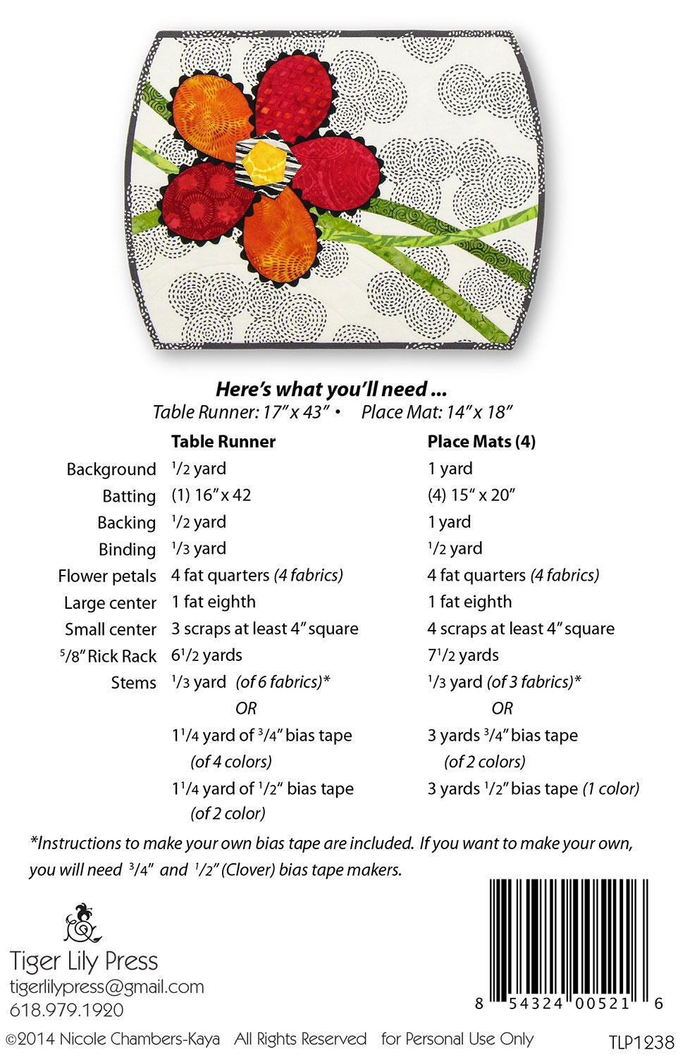 Pickle-Blooms-table-runner-and-placemats-sewing-pattern-Tiger-Lily-Press-back
