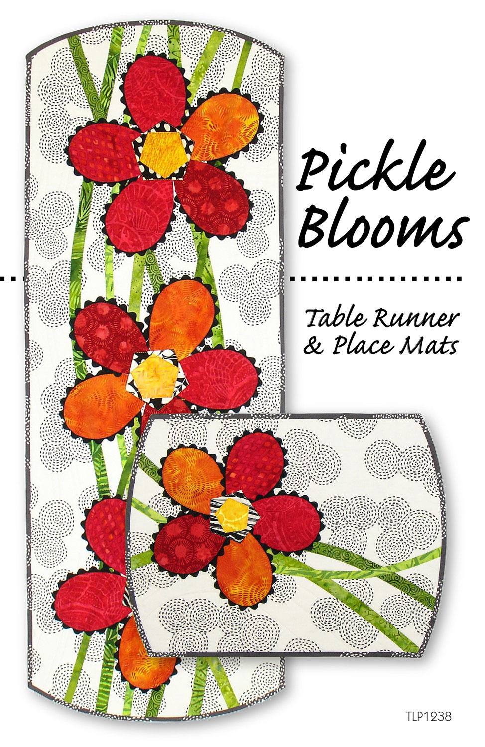 Pickle-Blooms-table-runner-and-placemats-sewing-pattern-Tiger-Lily-Press-front