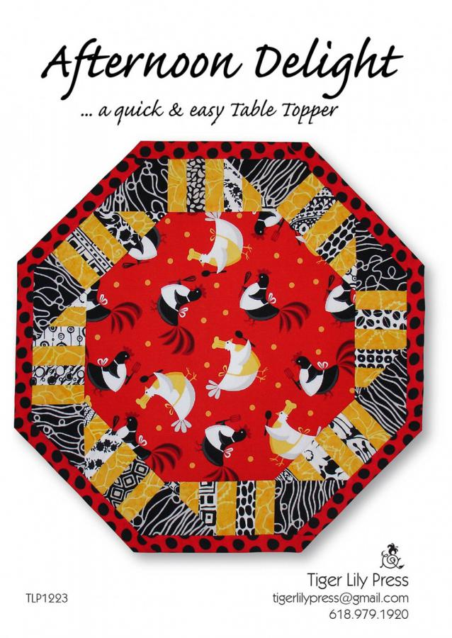 Afternoon Delight Table Topper sewing pattern by Tiger Lily Press