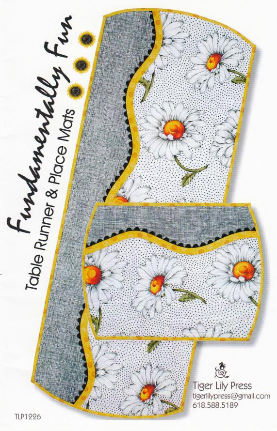 Fundamentally Fun TableRunner & Place Mats sewing pattern by Tiger Lily Press
