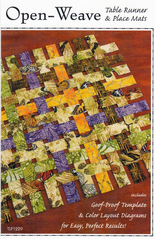 Open Weave sewing pattern by Tiger Lily Press