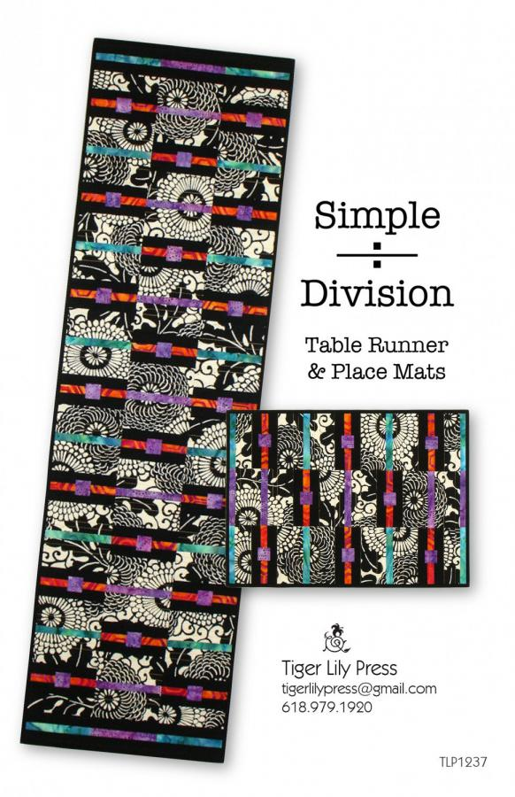 Simply Division Table Runner and Placemats sewing pattern by Tiger Lily Press