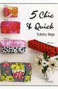 5 Chic & Quick Toiletry Bags sewing pattern by Tiger Lily Press