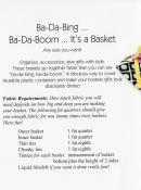Ba-Da-Bing Ba-Da-Boom sewing pattern by Tiger Lily Press 1