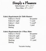 Simply A Pleasure sewing pattern by Tiger Lily Press 1