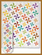 Newfangled Pinwheels Table Runner, Lap Quilt & Baby Quilt sewing pattern by Tiger Lily Press 2