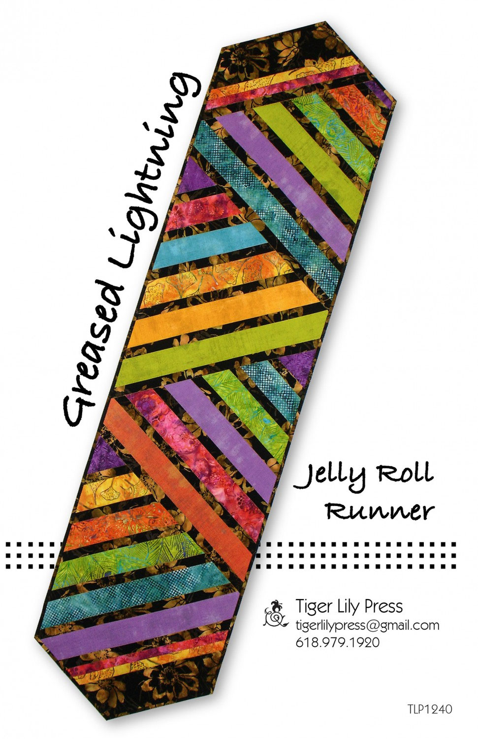 Greased Lightning Jelly Roll Runner Sewing Pattern By