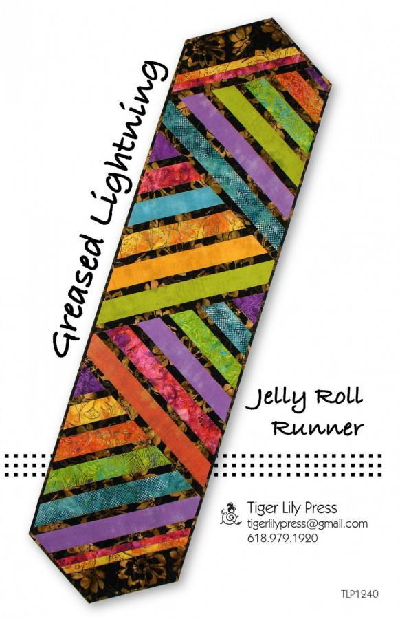 Greased Lightning Jelly Roll Runner sewing pattern by Tiger Lily Press