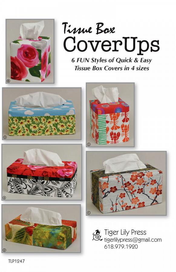 Tissue Box CoverUps sewing pattern by Tiger Lily Press