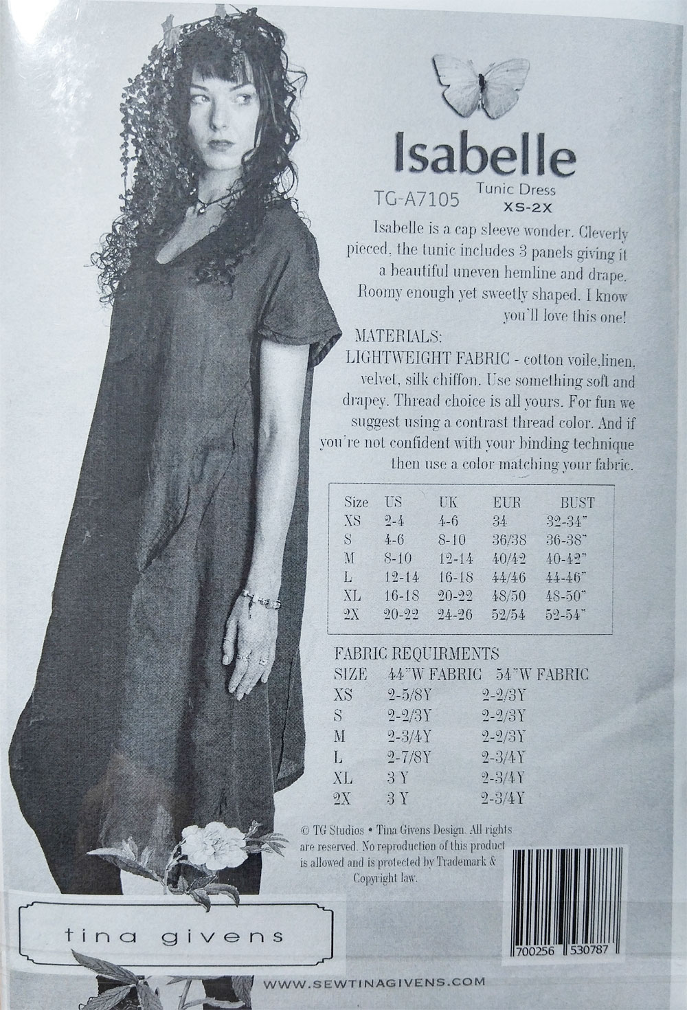 Isabelle-Tunic-Dress-sewing-pattern-from-Tina-Givens-back