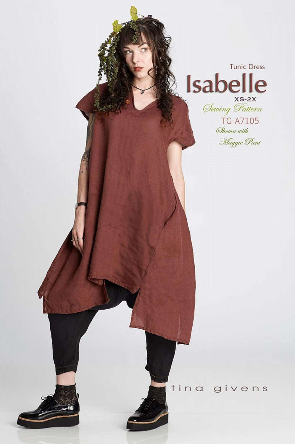 Isabelle-Tunic-Dress-sewing-pattern-from-Tina-Givens-front