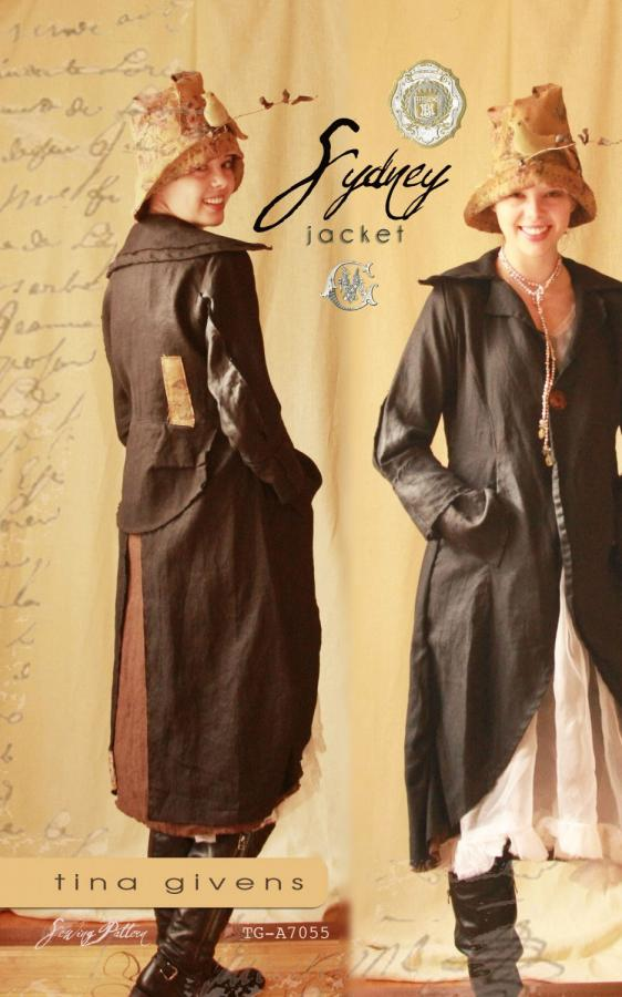 CLOSEOUT...Sydney Jacket sewing pattern from Tina Givens