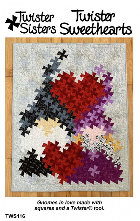 INVENTORY REDUCTION...Twister Sweethearts quilt sewing pattern from Twister Sisters