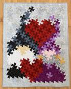 INVENTORY REDUCTION...Twister Sweethearts quilt sewing pattern from Twister Sisters 2