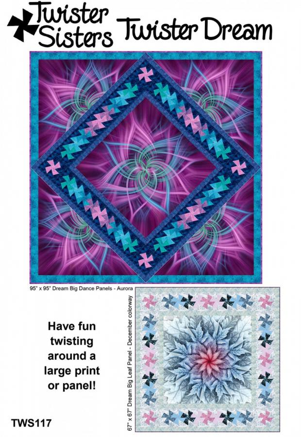 Twister Dream quilt sewing pattern from Twister Sisters