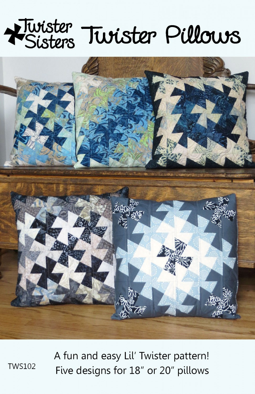 Twister-Pillows-sewing-pattern-Twister-Sisters-front