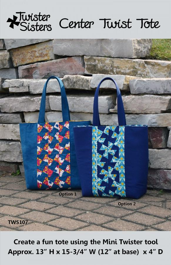 Center Twist Tote sewing pattern from Twister Sisters