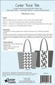 Center Twist Tote sewing pattern from Twister Sisters 1