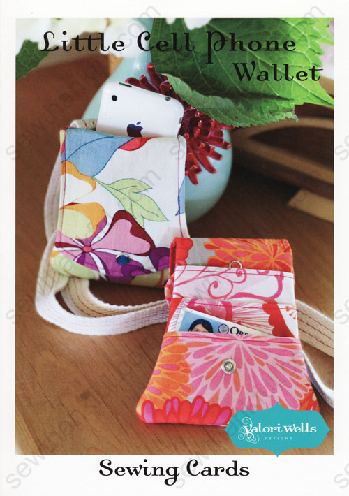 Little Cell Phone Wallet Sewing Pattern Card From Valori