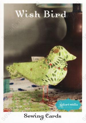 Wish Bird sewing pattern card from Valori Wells Designs