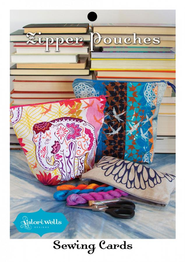 Zipper Pouches sewing pattern card from Valori Wells Designs