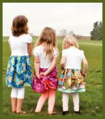 Sassy Girls T-Shirt Dresses sewing pattern card from Valori Wells Designs