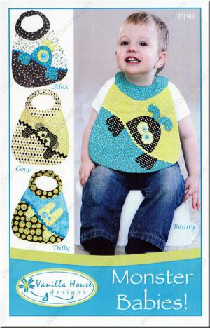 Monster Babies sewing pattern from Vanilla House Designs