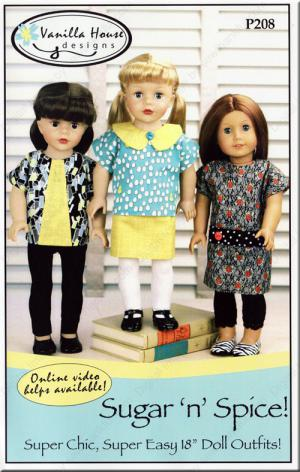 Sugar 'n' Spice doll sewing pattern from Vanilla House Designs