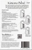 Kimono Bibs sewing pattern from Vanilla House Designs 2