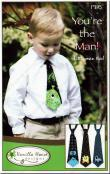 You're The Man Little Man Ties sewing pattern from Vanilla House Designs