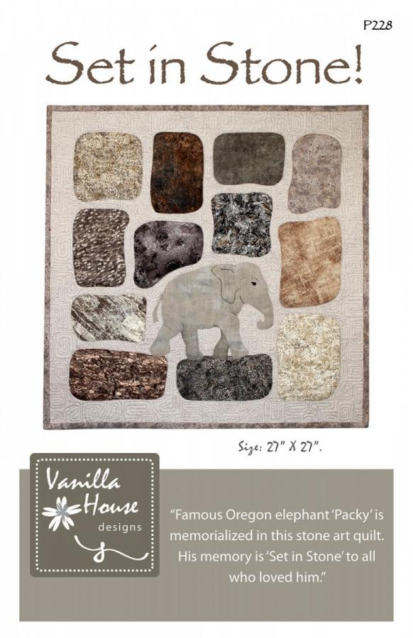 Set in Stone quilt sewing pattern from Vanilla House Designs