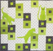 Cats Play quilt sewing pattern from Vanilla House Designs 2