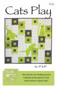 Cats Play quilt sewing pattern from Vanilla House Designs