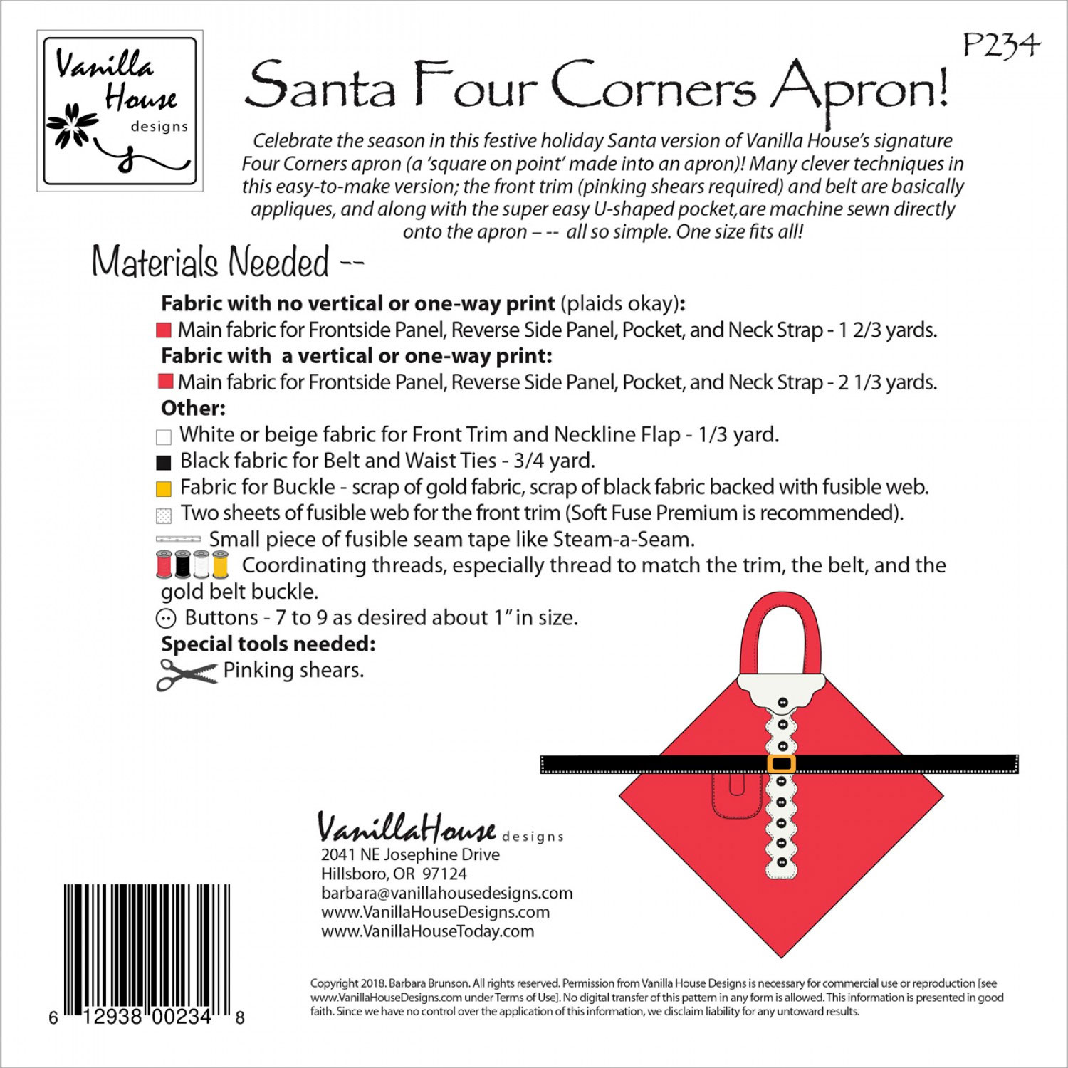 Santa-Four-Corners-Apron-sewing-pattern-Vanilla-House-Designs-back